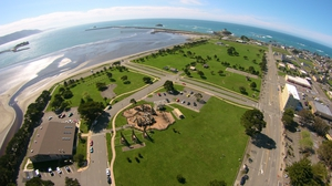 picture of overhead view of Beachfront Park. Picture links to Beachfront Park Page